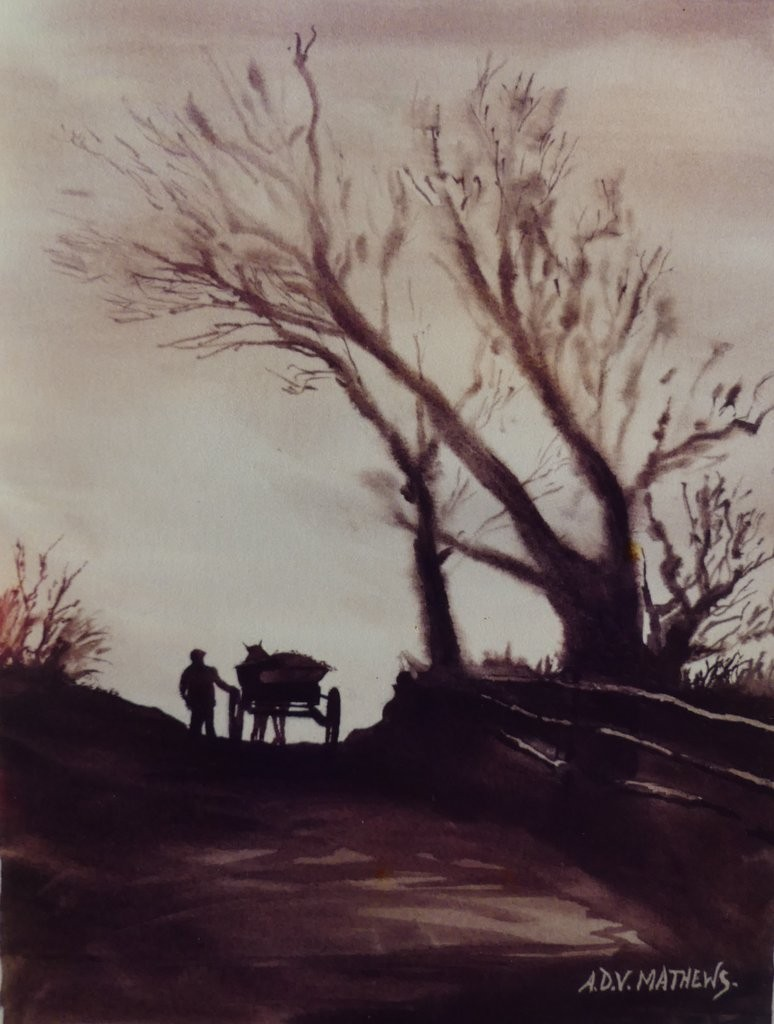 Rural Path, Sepia