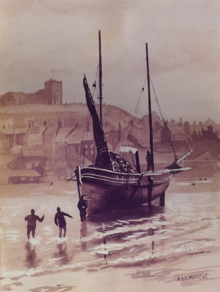 Whitby, Yorkshire, Sepia