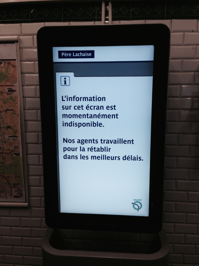 The information on this screen is temporarily unavailable.