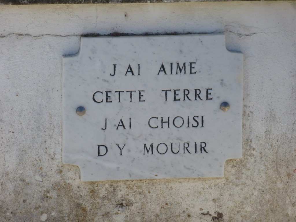 On a grave in Corsica