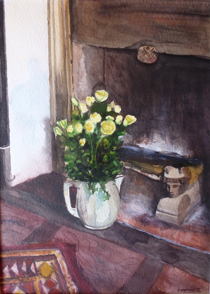Flowers and Fireplace, Avenue de l'Observatoire, Paris