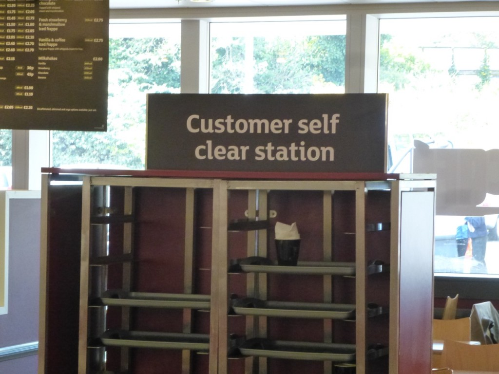 Customer self clear station