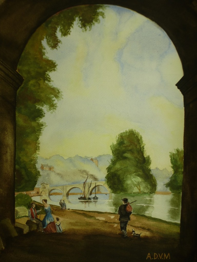 View of Richmond Bridge, Copy of 19th-Century Painting