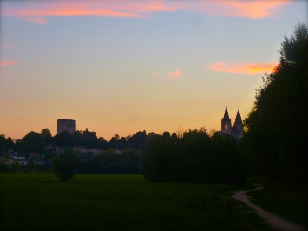 Sunset, Loches seen from Les Prairies du Roy